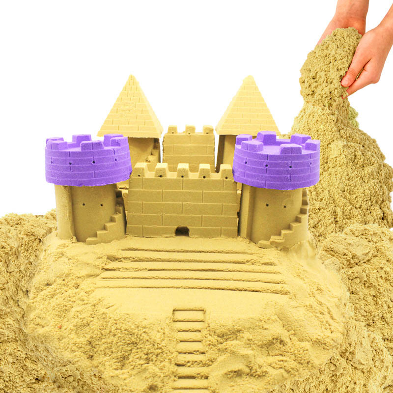 New 500g Dynamic Sand Toy Clay Educational Colored Soft Magic Sand Space Indoor Arena Play Sand Kids Toy For Children Gift Model