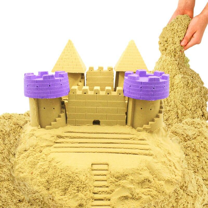 Nova 500g Dinâmico Areia Espaço Areia Argila Brinquedo Educacional Colorido Mágico Macio Arena Indoor Jogar Areia Brinquedo de Criança para presente das crianças Modelo