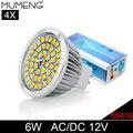 MUMENG MR16 LED Light Bulb 48pcs SMD2835 Spotlight Bulb 6W Enety Saving Lampara 12V Ampoule For Home Downlight 4X