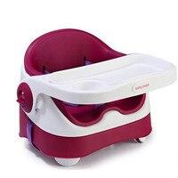 100% натуральная для роскошный обеденный стул детский Портативный складной Кормление Стульчики детские стулья ребенок полный PU мягкой Детск