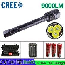 Z30 СВЕТОДИОДНЫЙ Фонарик CREE XM-L 3T6 3 х 18650 зарядное устройство мощности 9000LM 5 Режим Факел Супер Яркий свет мощный факел