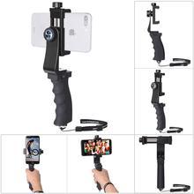 Telefon komórkowy uchwyt na rękę stabilizator telefonu komórkowego Selfie Stick Gimbal uchwyt zacisk dla iPhone Samsung Huawei Xiaomi Oneplus