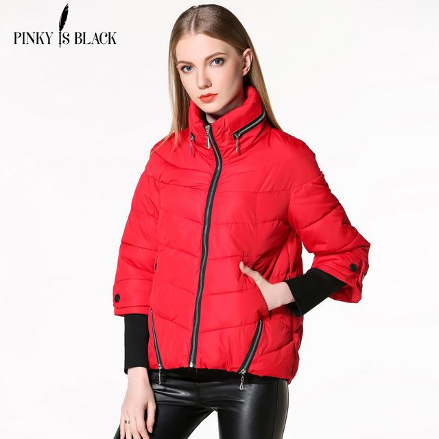 Outono mulheres jaqueta de Inverno 2016 de forma magro curto algodão-acolchoado casacos feminino amassado outerwear jaqueta de inverno casaco mulheres
