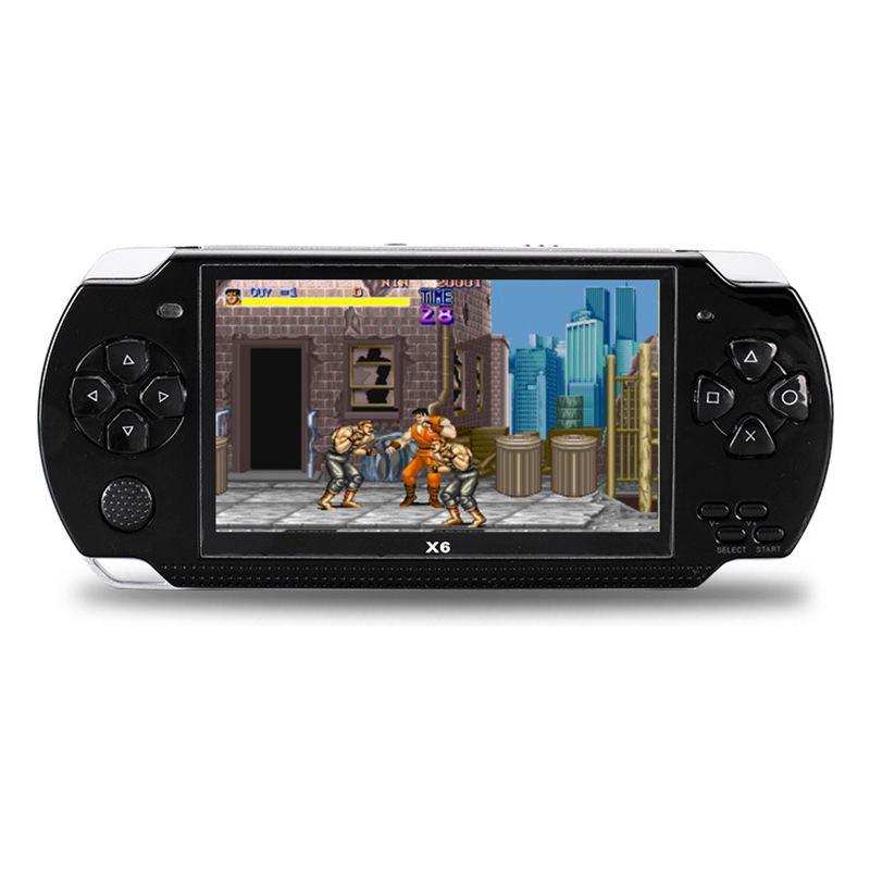 Powkiddy 4.3 Inch Retro Handheld Game Console Player 8Gb Portable Video Game Built-In Free Classic Games Support Photo Recording