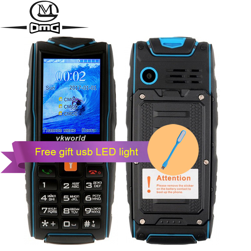 Russe clavier IP68 étanche antichoc Mobile téléphone 3000 mah batterie 3 SIM FM lampe de poche portable en plein air téléphones VKworld V3