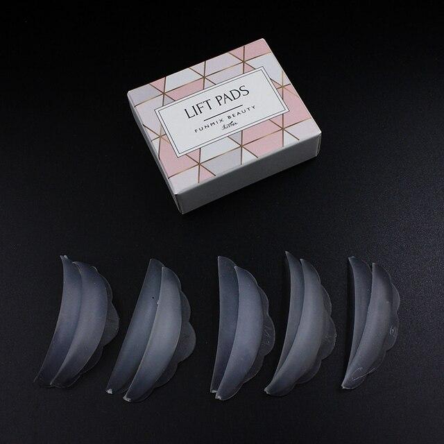 Nuevo 5 unids/caja de silicona de pestañas permanente de reciclaje pestañas barras Escudo de 3D pestañas maquillaje accesorios aplicador herramienta