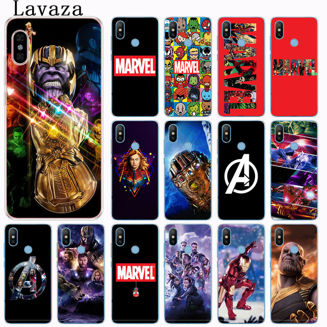 Endgame Lavaza Vingadores Thanos Maravilha logo Caixa Do Telefone para Xiao mi mi mi Vermelho IR S2 6A 4A Plus Nota 7 5 4 4X6 Pro 5A Prime Capa