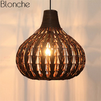 Southeast Asia Pendant Lights Bamboo Led Hanging Lamp Rattan Wicker for Kitchen Restaurant Indoor Decor Light Fixtures Luminaire