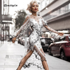 Seamyla 2018 Elegant Transparent Mesh Dress Sexy Black White Dot Women Lace Dress New Celebrity Evening