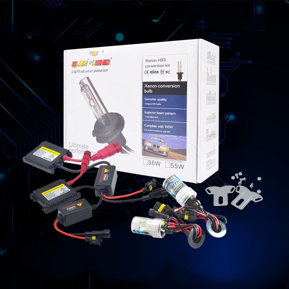 Satu set H7 xenon HID kit 55 W untuk lampu mobil lampu H4 H8 H9 H11 - Lampu mobil - Foto 1