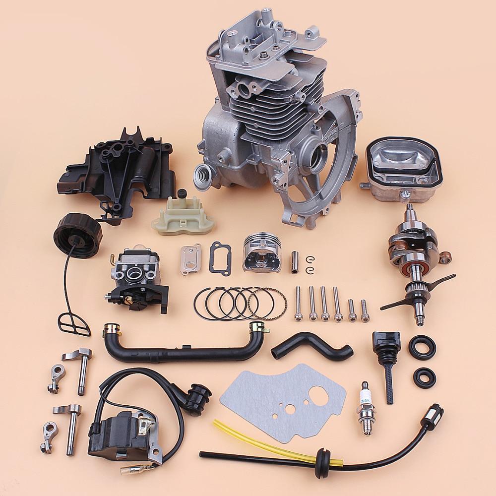 39mm Crankcase Cylinder Piston Crankshaft Carburetor Rebuild Kit For HONDA GX35 GX35NT Small Gas Engine Motor Trimmer Parts