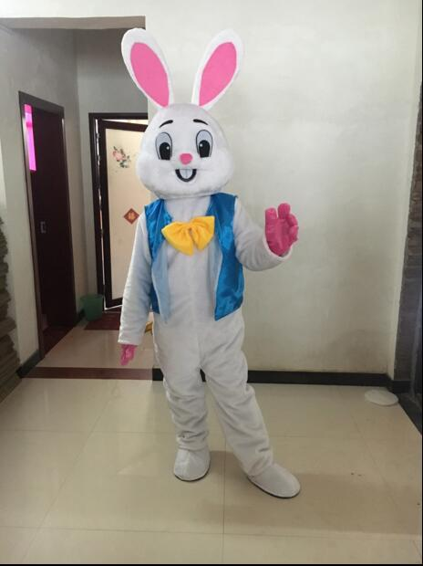 High Quality Cosplay Costumes Professional Easter Bunny Mascot Bugs Rabbit Hare Easter Adult Mascot Costume