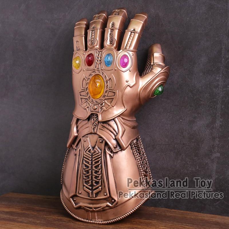 Avengers Infinity War Thanos Infinity Gauntlet Glove Cosplay Halloween PVC Figure Toy Gift