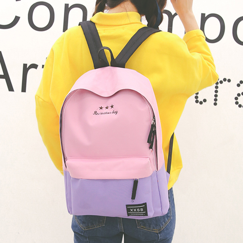 New Arriving Women Polyester Fiber Backpack Teenagers School Bags Girls Laptop Trave Patchwork Backpack Mochila FemininaNew Arriving Women Polyester Fiber Backpack Teenagers School Bags Girls Laptop Trave Patchwork Backpack Mochila Feminina
