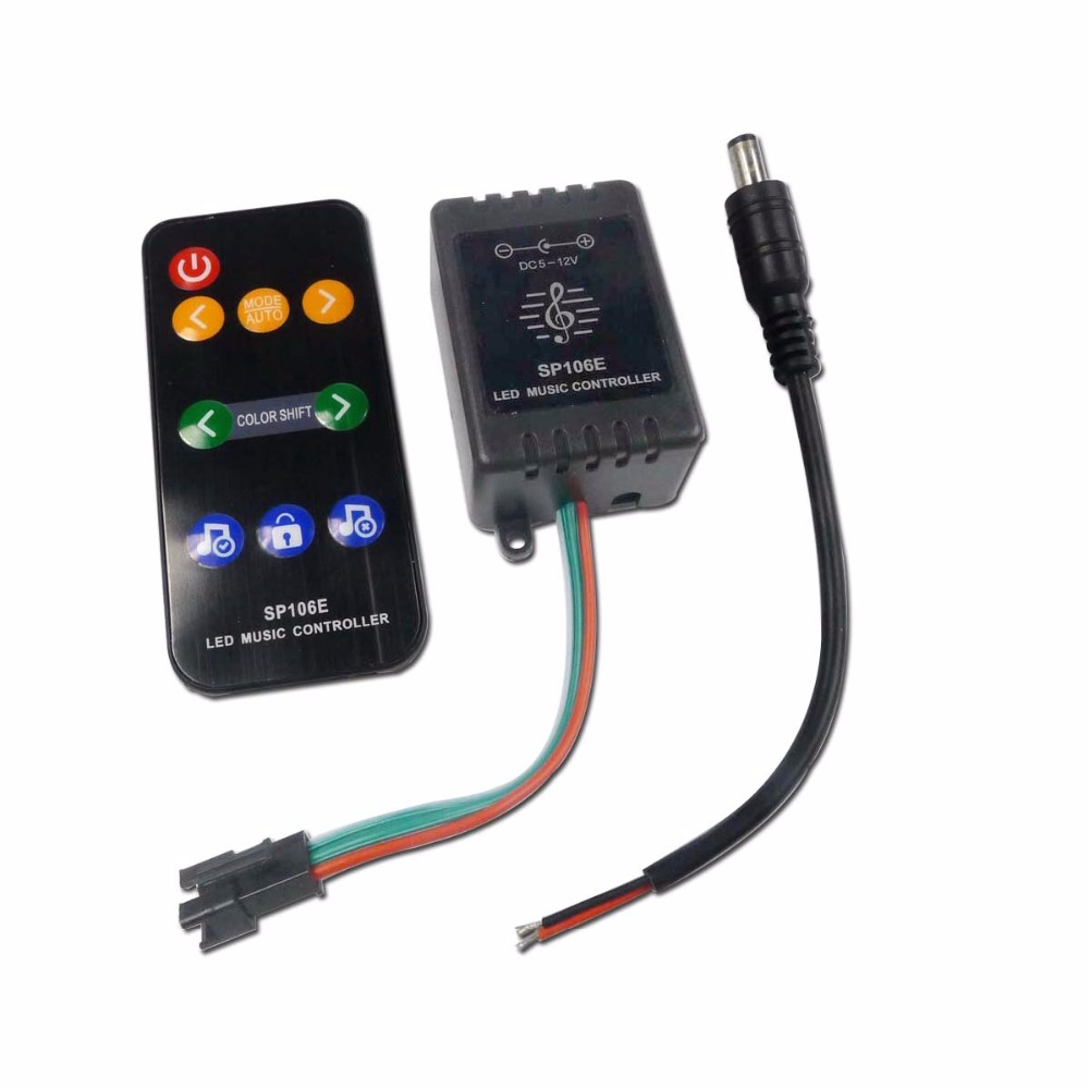 100% True Sp107e Dc5v-24v Bluetooth Music Led Controller Full Color Rgb Spi Control By Phone App For 2812 2811 1903 Led Strip Light Tape More Discounts Surprises Lights & Lighting Lighting Accessories