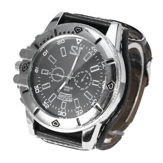 29d0119cbbf Relógio Homem Mulher Grande Unisex marcação Relógios de Pulso Moda Relógio  de Quartzo De Couro Largo