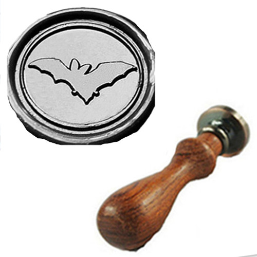 Vintage Cute Bat Flying Custom Picture Logo Wedding Invitation Wax Seal Sealing Stamp Rosewood Handle Set Kit In Stamps From Home Garden On