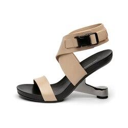 Gladiator Sandals Women Footwear Metal Strange Heel Sexy Shoes Woman High Heels Women Sandals HL54 MUYISEXI 2