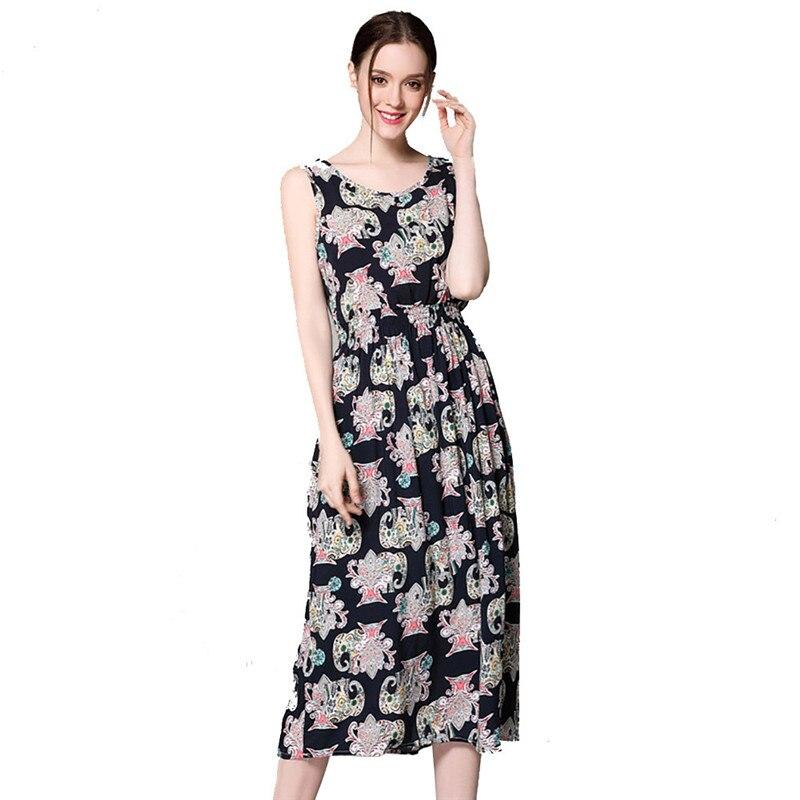snowshine YLI Sexy Lady Dresses Bohemian Long Dress Black Print Beach Party Street Dating 2017 free shipping