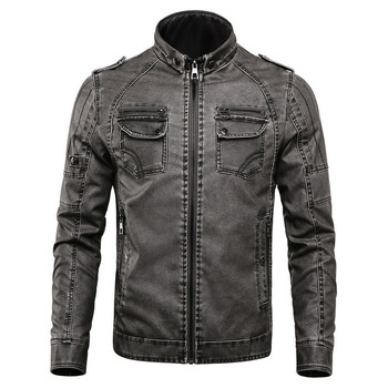 Classic Men's Leather Jacket and Coats Men 2019 Autumn Winter Casual Tops Outwear Vintage Motorcycle Biker Jackets Man Clothes