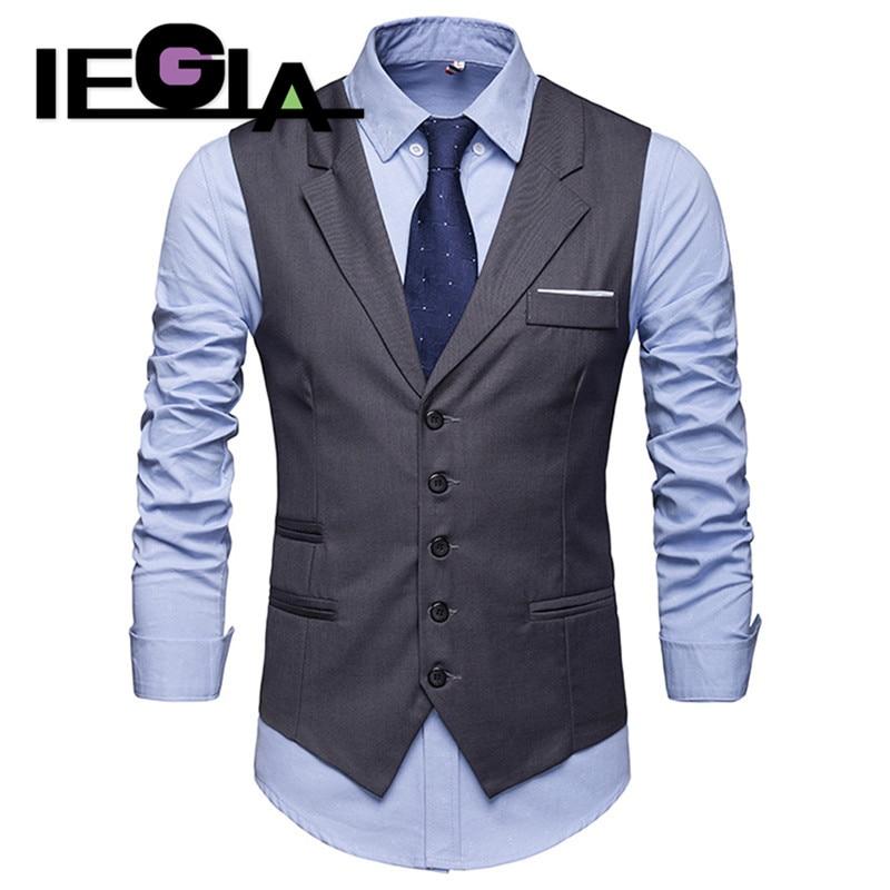 Vest Male Fashion Gentleman Business Suit Vests For Men Classic Party Wedding Waistcoat Jackets Vest Purple Color Coats