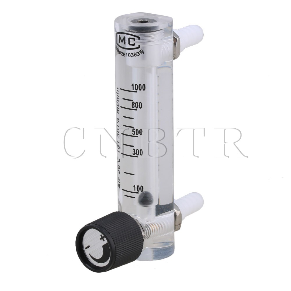 CNBTR 100-1000ml/min Air Oxygen Gas Flow Meter Flowmeter with Control Valve for Measuring Controlling Gas Flow buoy inhalator flow meter tidal oxygen bottle