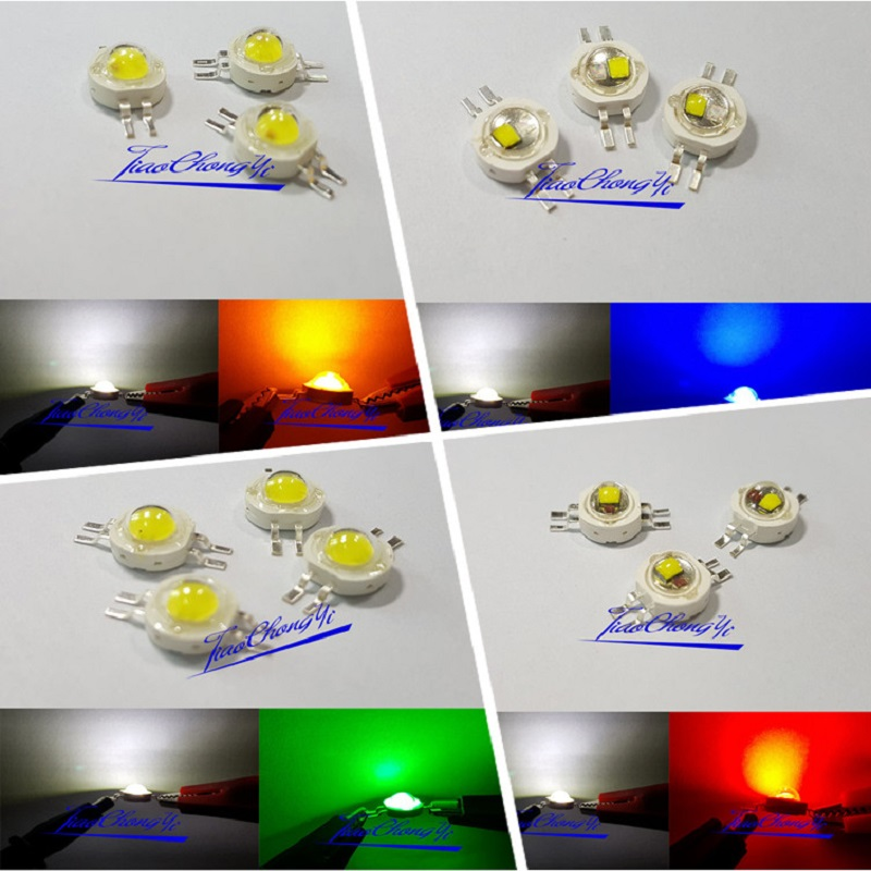2*3W Bicolor Double Color LED Red Green Blue Yellow White Led Cob Chip Light Bead For DIY LED Car Light Lamp Flashlight