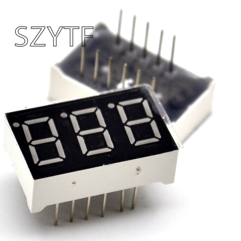 10pcs 7 Segment Common Anode 3 Bit Digital Tube 0.56