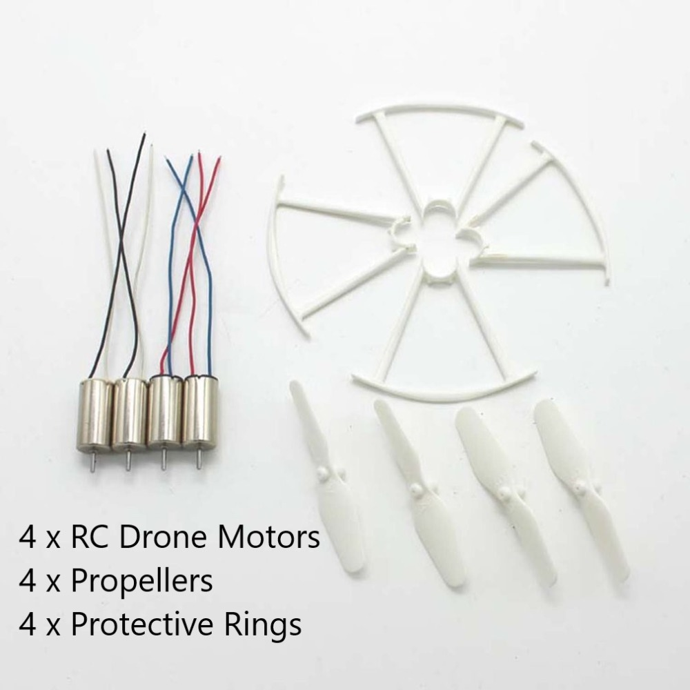 4pcs RC Drone Motors CCW CW Engine Motor Propellers Protective Rings Drone Spare Parts for SYMA X22W Quadcopter