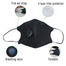 Корейская анти PM2.5 маска для лица Анти Пыль рот маска Респиратор маска с углеродным фильтром респиратор черная маска для зимнего бега