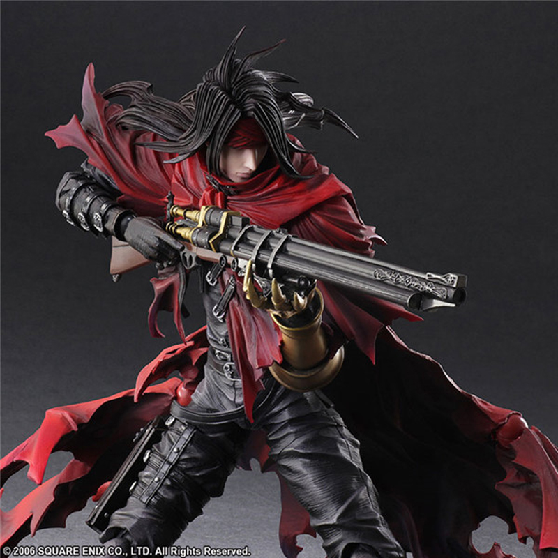 Final Fantasy 7 Vincent Valentine Action Figures Play Arts Dirge of Cerberus BJD Collectible Toys 25cm