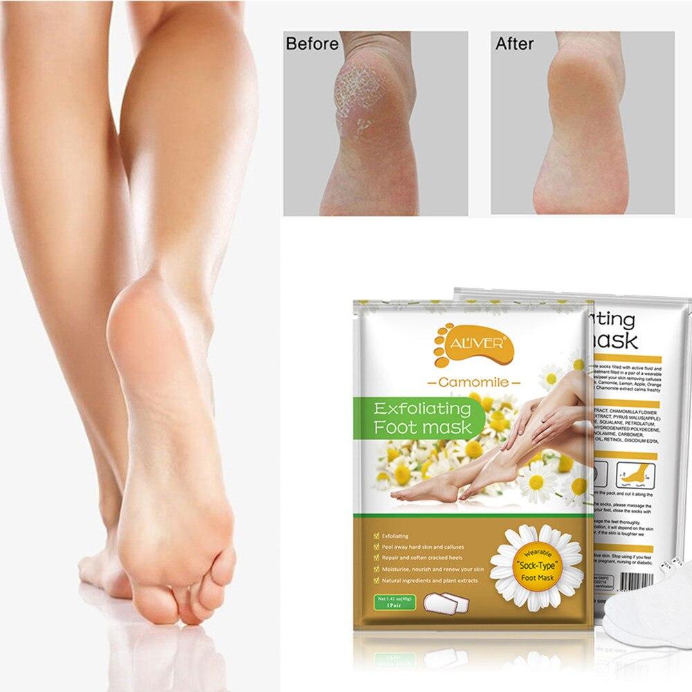 2pcs/bag Peeling Foot Mask Exfoliating Socks Baby Care Pedicure Socks Remove Dead Skin Cuticles Foot Peeling Mask TSLM2 bioaqua exfoliante para pies