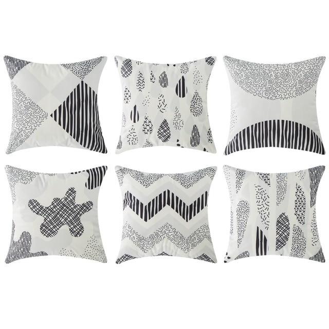 "brixini.com - Black Cartoon Decorative Throw Pillowcases 18"" x 18"""
