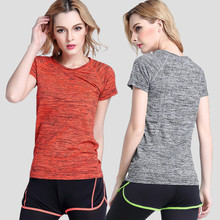 SJ-Maurie 5Colors Sport Running T-Shirt Women Quick Dry Gym Home Workout Yoga Fitness Short Sleeves T-shirt Jogging Running Tops