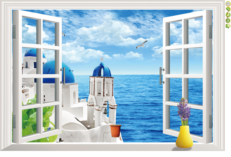 Aliexpresscom Buy Natural scenery 3D Window Decal Home Decor