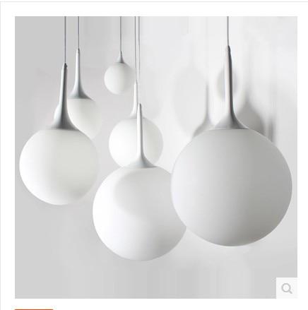 Simple Pendant Lights white milk glass ball stair light clothing store restaurant balcony lobby bar beaver LIGHTS FG916