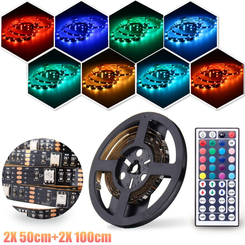 Smuxi 5V USB Port Power RGB LED Strip Light 5050 Waterproof Flexible LED String Tape For TV Desktop Background Decor