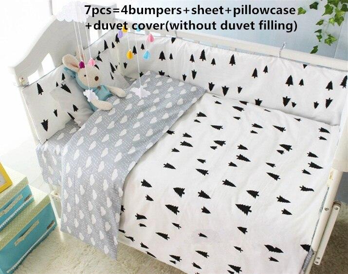 ②¡ Promoción! 6/7 unids niños bebé cama cuna cama 100% algodón cuna ...
