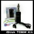 100% Autêntica Caixa de Starter Kit iStick Eleaf iStick 60 W TC TC60W Kit Mod Completo Com Melo 2 Atomizador 18650 Istick 60 W 1 Pçs/lote