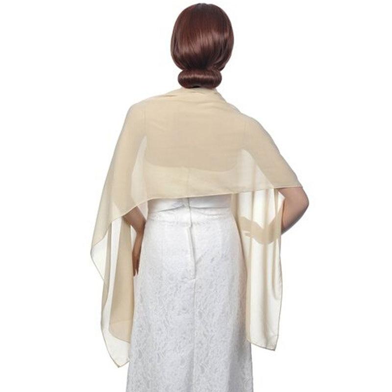 2017 Venta caliente de las mujeres de la gasa para la boda Patry color  personalizado disponible largo mantón nupcial 178 46 cm en stock envío  gratis 51f85ecfde2
