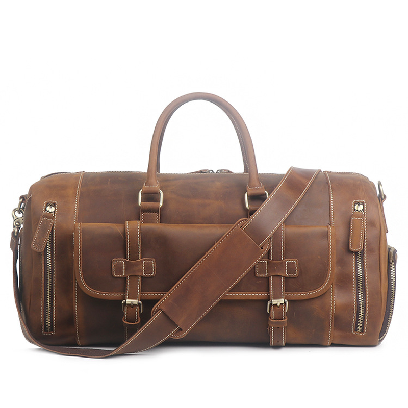 2019 Luggage Leather Men's Bags With Large Capacity Single-shoulder  Fashion Simple Brand Business Men Designer Handbags SA-8
