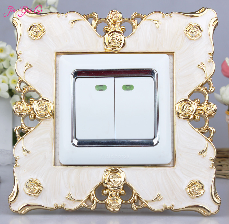JIA-GUI LUO European creative protective cover acrylic stickers decorative wall living room outlet switch L005