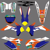 Team Background Graphic Decals Stickers Kit For KTM SX SXF SX F XC XCF XC F 125 150 200 250 300 350 400 450 2013 2014 2015