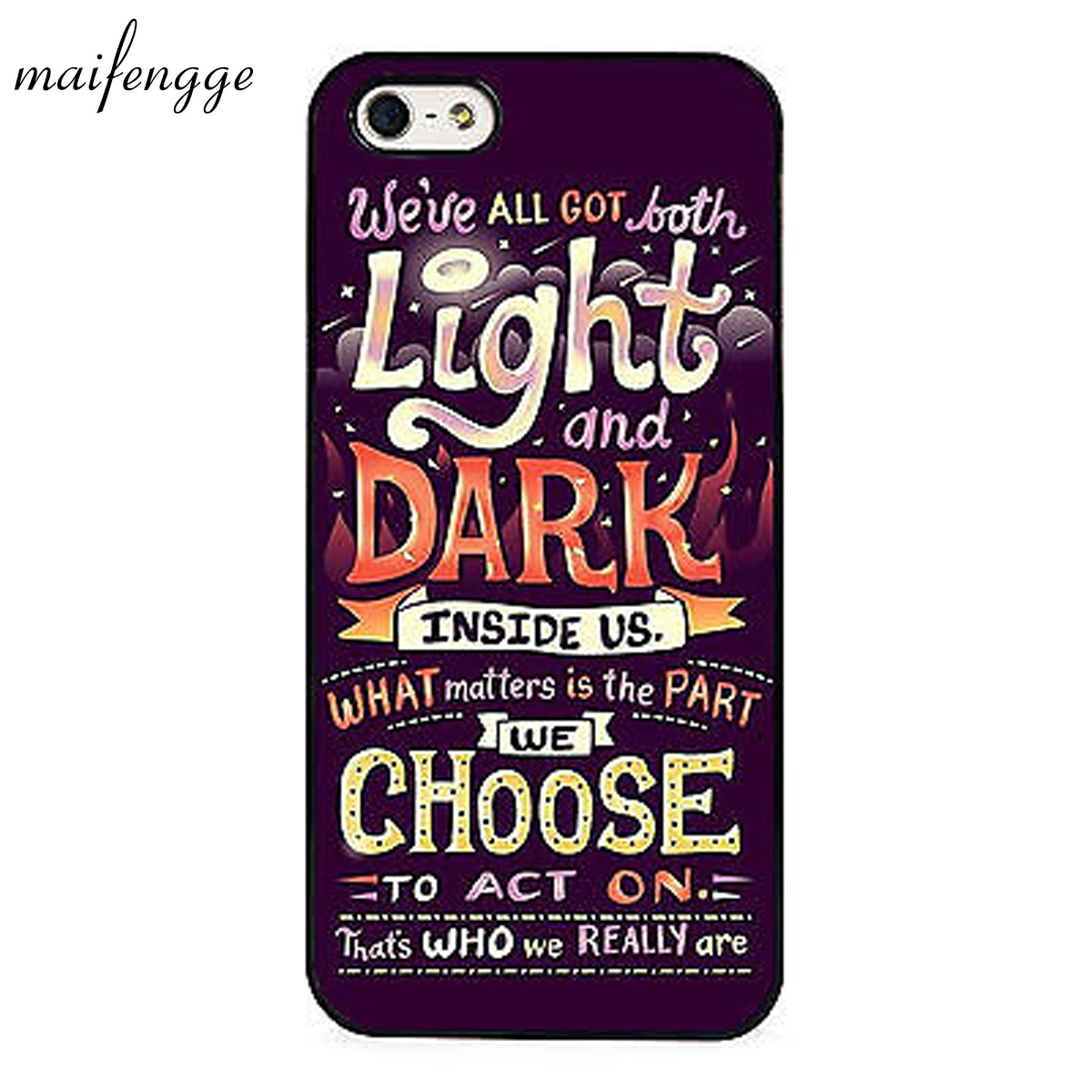 Maifengge Harry Potter Sirius Black Quote Case For Iphone 6 6s 7 8