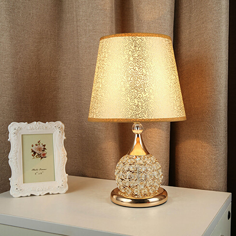 Table Lamp Crystal Light Desk Lamps Living Room Bedroom Bedside Living Modern Glass Cristal Lamparas Designer Creative Home fumat stained glass table lamp high quality goddess lamp art collect creative home docor table lamp living room light fixtures