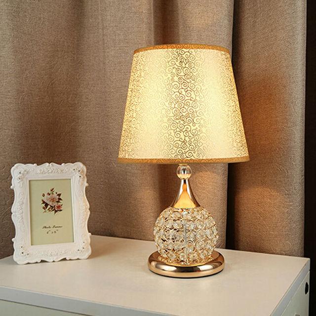 Table Lamp Crystal Light Desk Lamps Living Room Bedroom Bedside Living Modern Glass Cristal Lamparas Designer Creative Home