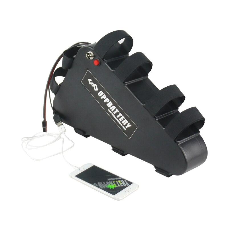 Boîtier en plastique 48 V 31.5Ah Triangle eBike batterie avec USB interrupteur marche/arrêt cadre batterie au Lithium pour vélo électrique 1000 w 1200 w