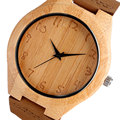 Wood Watches Women 2017 Handmade Bamboo Creative Minimalist Modern Quartz Wristwatches Arabic Numbers Nature Wood Female Clock