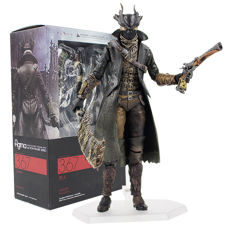 16cm Bloodborne Games Action Figure Hunter Figma 367 Movable PVC Action Figure Collection Model Toy Doll Gifts For Kids недорго, оригинальная цена