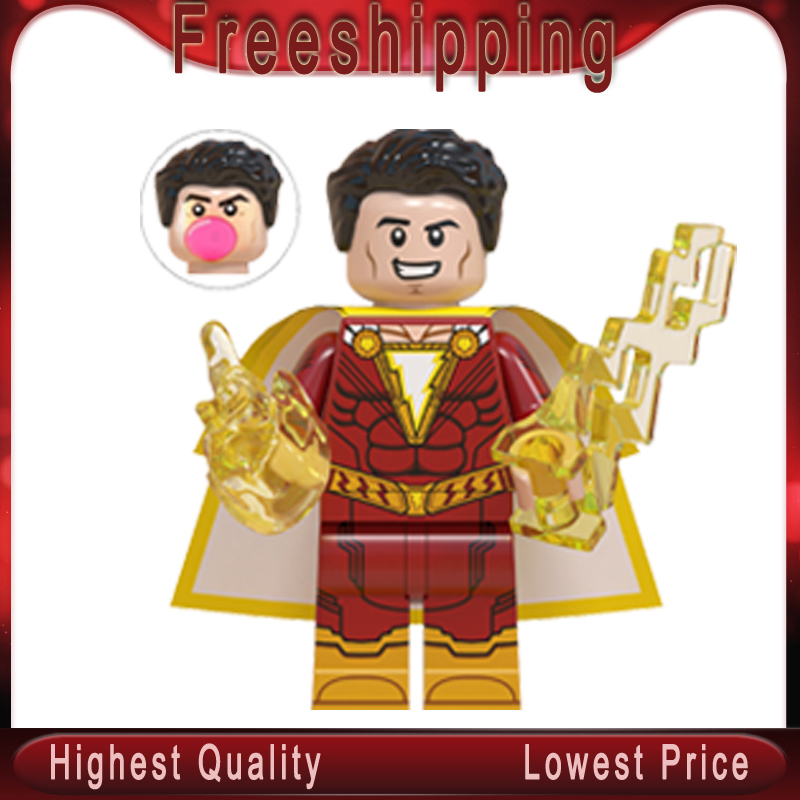 Shazam DC Film Billy Batson Freddy Freeman Pedro Pena Sivana Mary Marvel Building Blocks Kids Figures Toys Gift Wm671